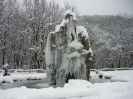 Замерший  фонтан у скалы Петушок